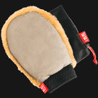 Lambs Wool Wash Mitt - Single Sided with Bug Removing Mesh